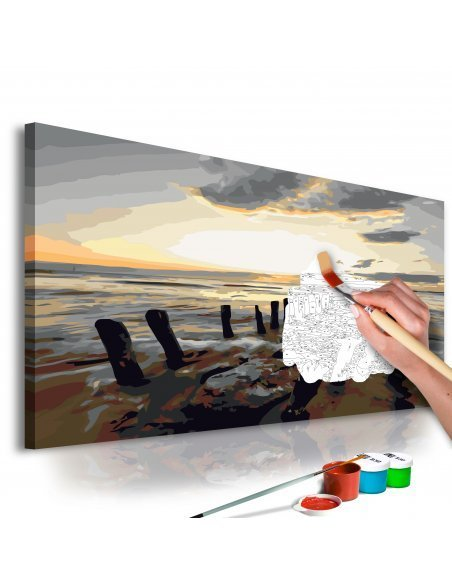 Tableau à peindre soi même PLAGE LEVER DE SOLEIL - par Artgeist