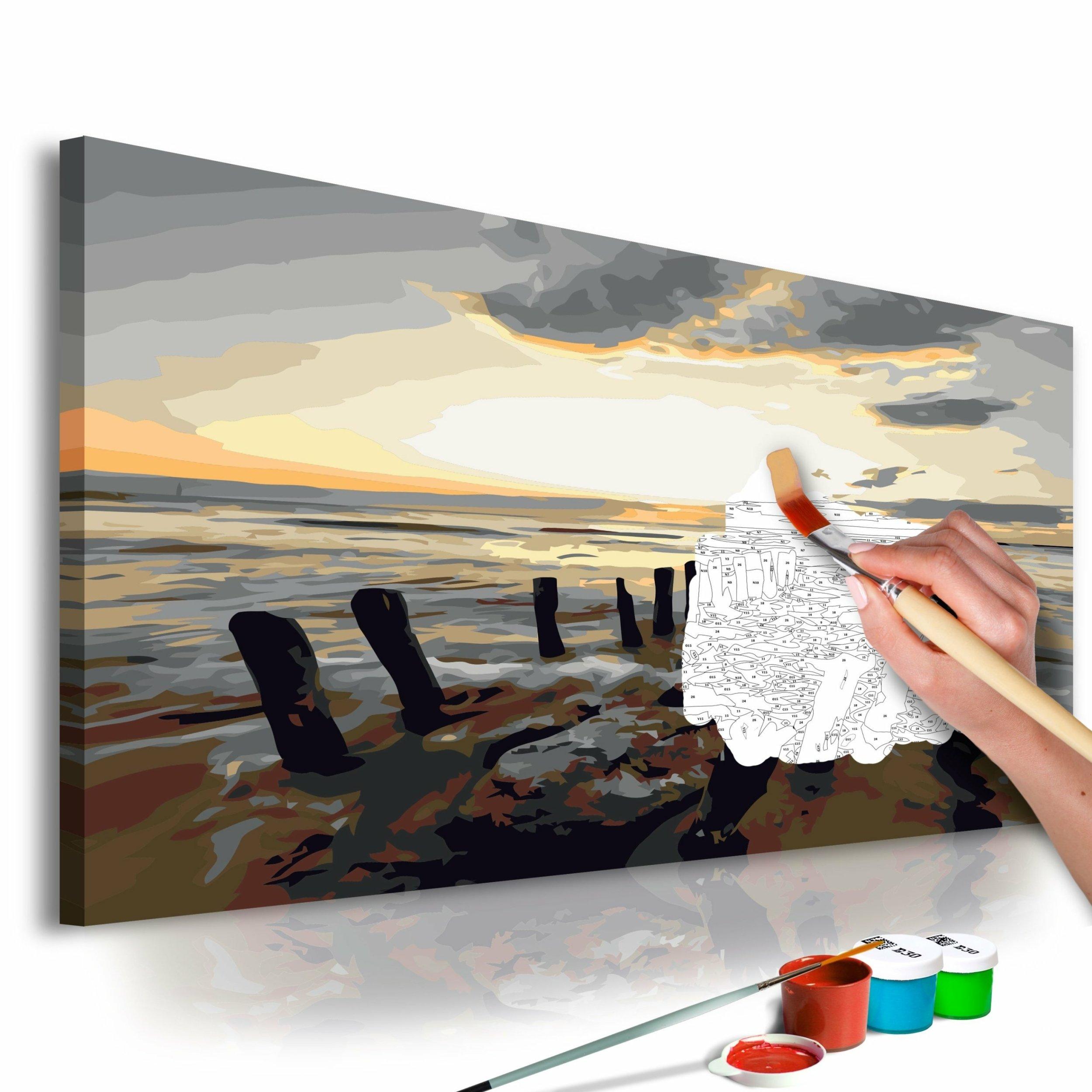 Tableau à Peindre Soi Même Plage Lever De Soleil De Artgeist Stock