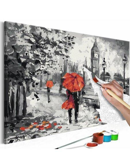 Tableau à peindre soi même AMOUREUX À LONDRES - par Artgeist