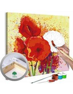 Tableau à peindre soi même COQUELICOTS MODERNES - par Artgeist