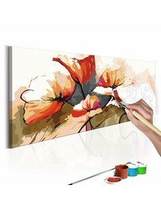 Tableau à peindre soi même FLEURS COQUELICOTS DÉLICATS - par Artgeist