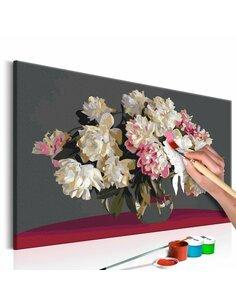 Tableau à peindre soi même FLEURS BLANCHES DANS UN VASE - par Artgeist