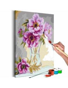 Tableau à peindre soi même FLEURS DANS UN VASE - par Artgeist