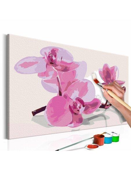 Tableau à peindre soi même FLEURS D'ORCHIDÉE - par Artgeist