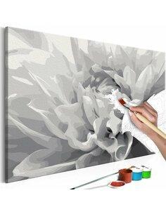 Tableau à peindre soi même FLEUR en N&B - par Artgeist