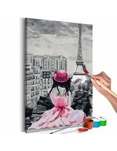 Tableau à peindre soi même PARIS VUE SUR LA TOUR EIFFEL - par Artgeist