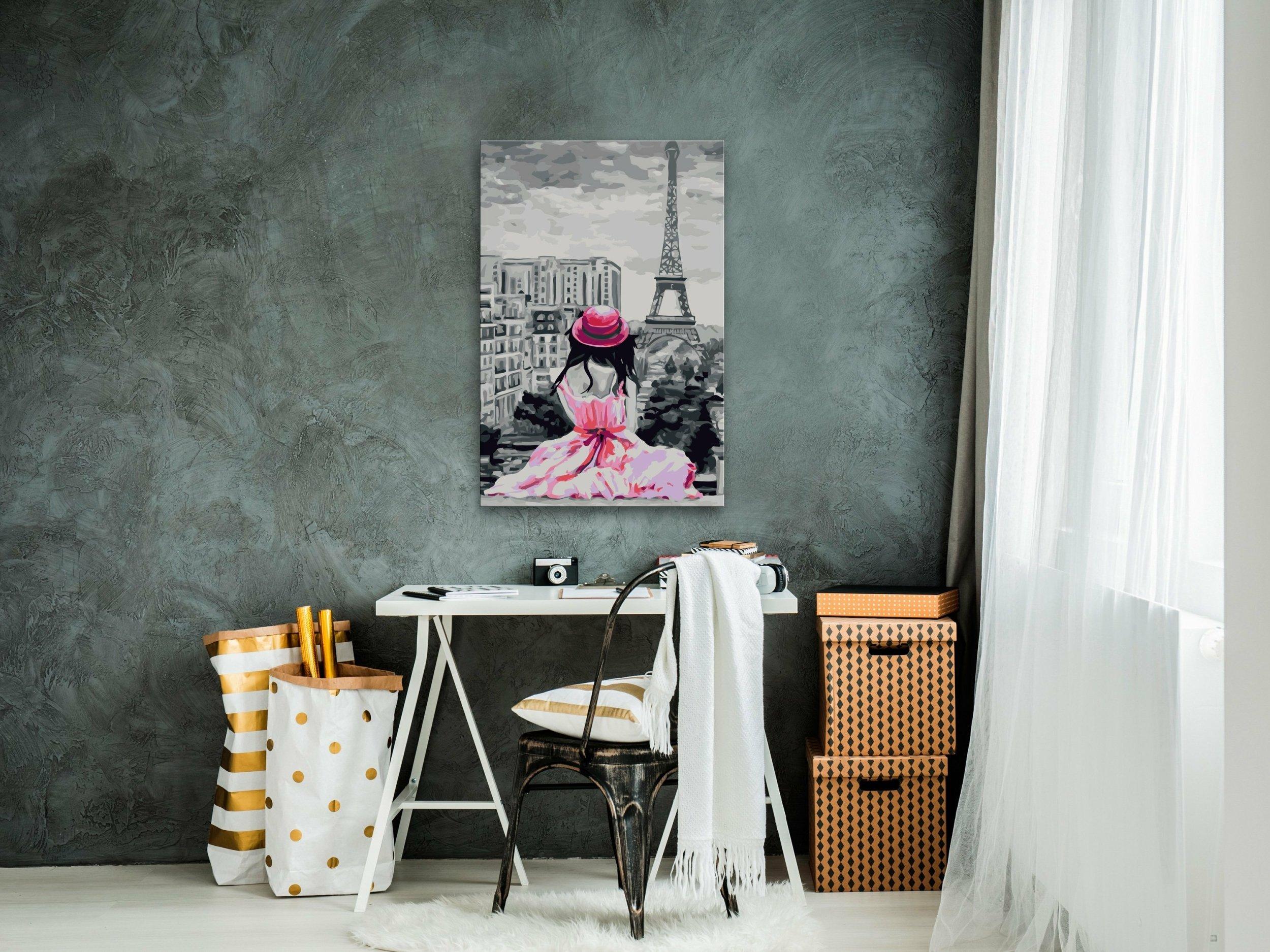 Tableau A Peindre Soi Meme Paris Vue Sur La Tour Eiffel A 65 90 C