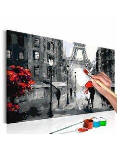 Tableau à peindre soi même AMOUREUX À PARIS - par Artgeist
