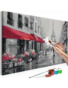 Tableau à peindre soi même PARIS SOUS LA PLUIE - par Artgeist