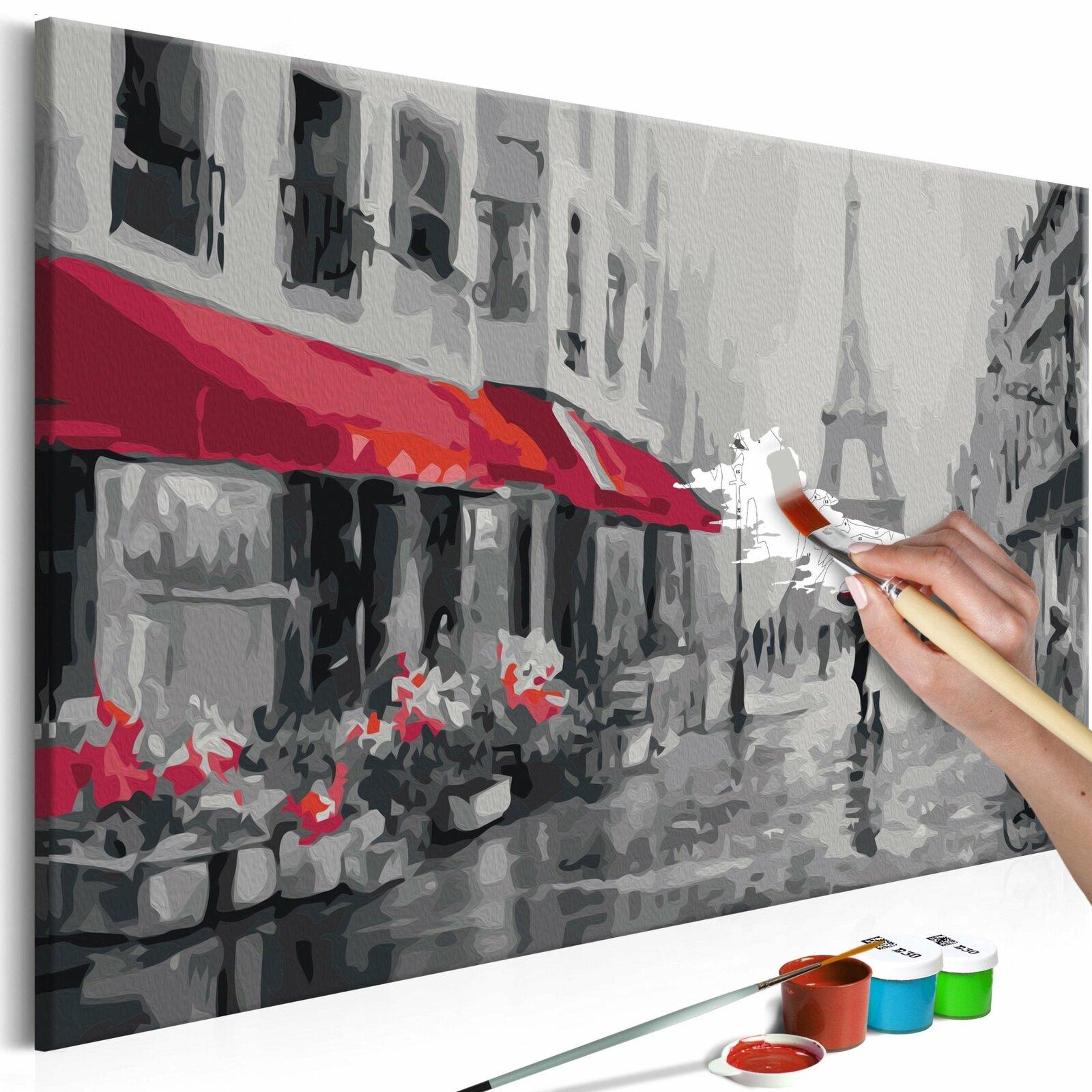 Tableau à Peindre Paris Sous La Pluie Artgeist Rouge