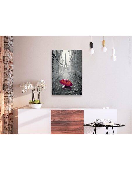 Tableau à peindre soi même PARIS PARAPLUIE ROUGE - par Artgeist