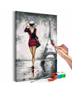 Tableau à peindre soi même PARISIENNE - par Artgeist