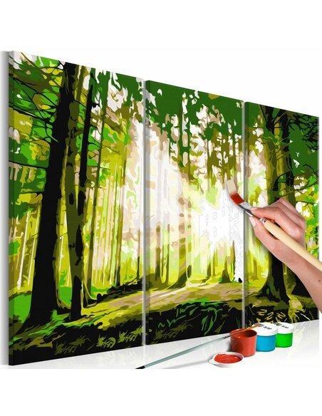 Tableau à peindre soi même FORÊT PRINTEMPS - par Artgeist