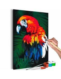 Tableau à peindre soi même PERROQUETS - par Artgeist