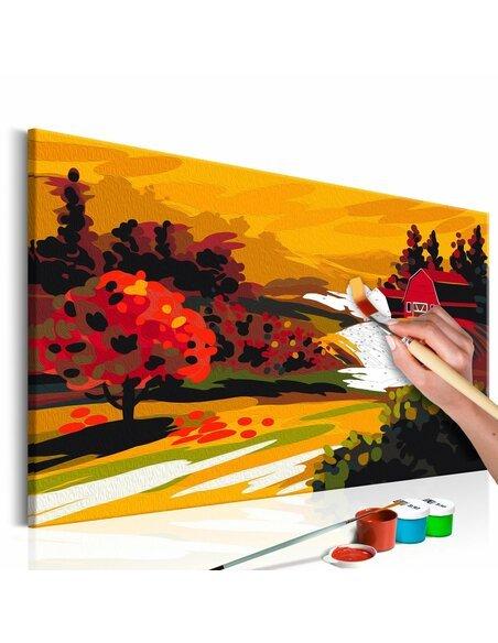 Tableau à peindre soi même PAYSAGE AUTOMNAL - par Artgeist