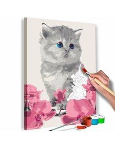 Tableau à peindre soi même CHATON - par Artgeist