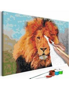 Tableau à peindre soi même LION - par Artgeist