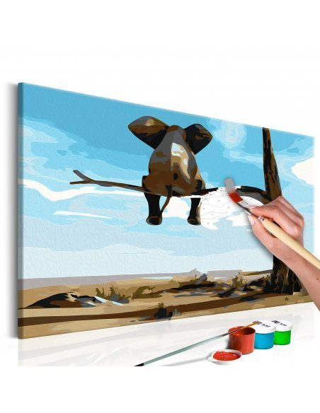 Tableau à peindre soi même ÉLÉPHANT SUR ARBRE - par Artgeist