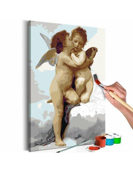 Tableau à peindre soi même ANGES AMOUR - par Artgeist