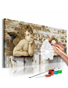 Tableau à peindre soi même ANGES DE RAPHAEL - par Artgeist