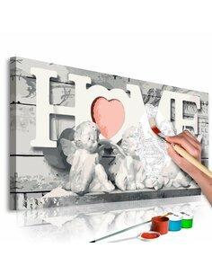 Tableau à peindre soi même ANGES HOME - par Artgeist