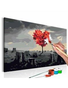 Tableau à peindre soi même ARBRE EN FORME DE COEUR - par Artgeist