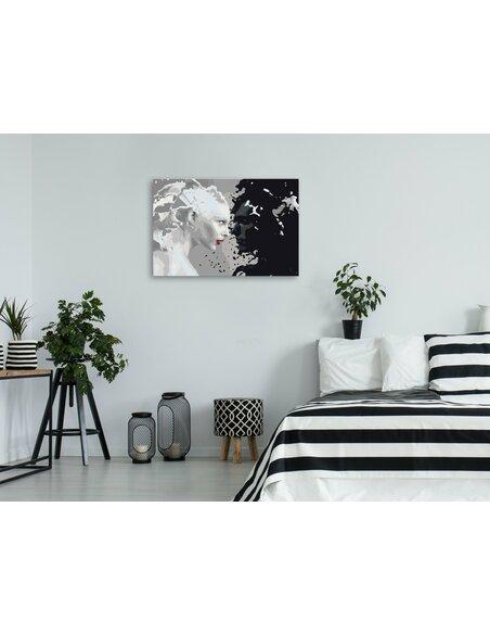 Tableau à peindre soi même BLACK & WHITE - par Artgeist