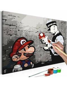 Tableau à peindre soi même MARIO Bansky - par Artgeist
