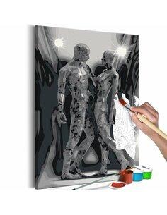 Tableau à peindre soi même COUPLE - par Artgeist