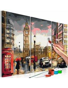 Tableau à peindre soi même CALLEJÓN DE LONDRES - par Artgeist