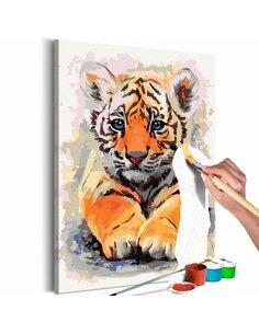 Tableau à peindre soi même BÉBÉ TIGRE - par Artgeist