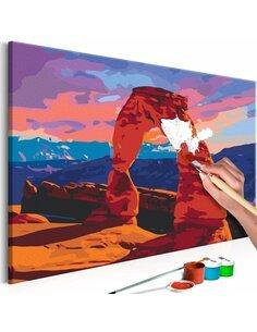 Tableau à peindre soi même CANYON - par Artgeist
