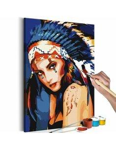 Tableau à peindre soi même INDIENNE - par Artgeist