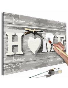 Tableau à peindre soi même HOME - par Artgeist