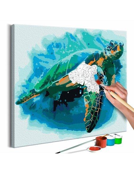 Tableau à peindre soi même TORTUE - par Artgeist
