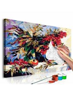 Tableau à peindre soi même SORBIER NATURE MORTE - par Artgeist