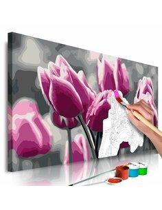 Tableau à peindre soi même CHAMP DE TULIPES - par Artgeist
