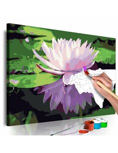 Tableau à peindre soi même NÉNUPHAR - par Artgeist