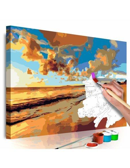 Tableau à peindre soi même BELLE PLAGE - par Artgeist