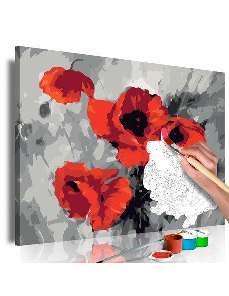 Tableau à peindre soi même BOUQUET DE COQUELICOTS - par Artgeist