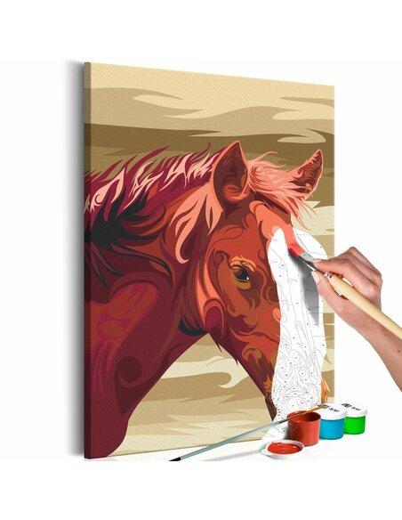 Tableau à peindre soi même CHEVAL BAI - par Artgeist