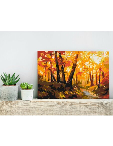 Tableau à peindre soi même FOREST TRACK - par Artgeist