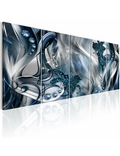 Tableau XXL Blue Glow Tableaux Abstraction Modernes Artgeist