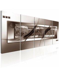 Tableau XXL Brown Gradient Tableaux Abstraction Modernes Artgeist