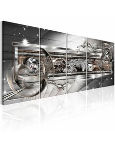 Tableau XXL Silver Shine Tableaux Abstraction Modernes Artgeist