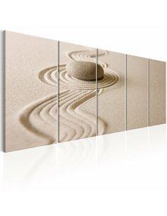 Tableau XXL Zen: Sand and Stone Zen Artgeist