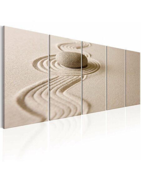 Tableau ZEN: SAND AND STONE - Zen par Artgeist