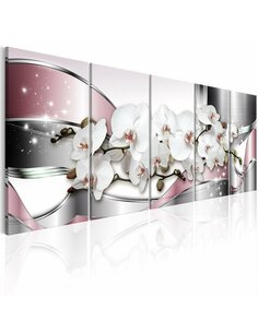 Tableau XXL Shiny Orchids Tableaux Abstraction Modernes Artgeist