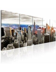 Tableau NEW YORK: GREY TOWER BLOCKS - par Artgeist