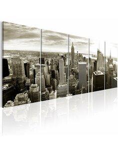 Tableau XXL Grey Manhattan New York Artgeist